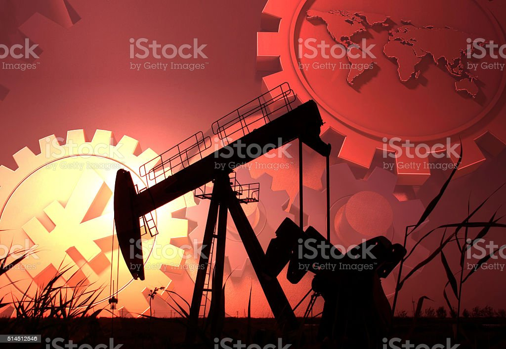 The oil industry stock photo