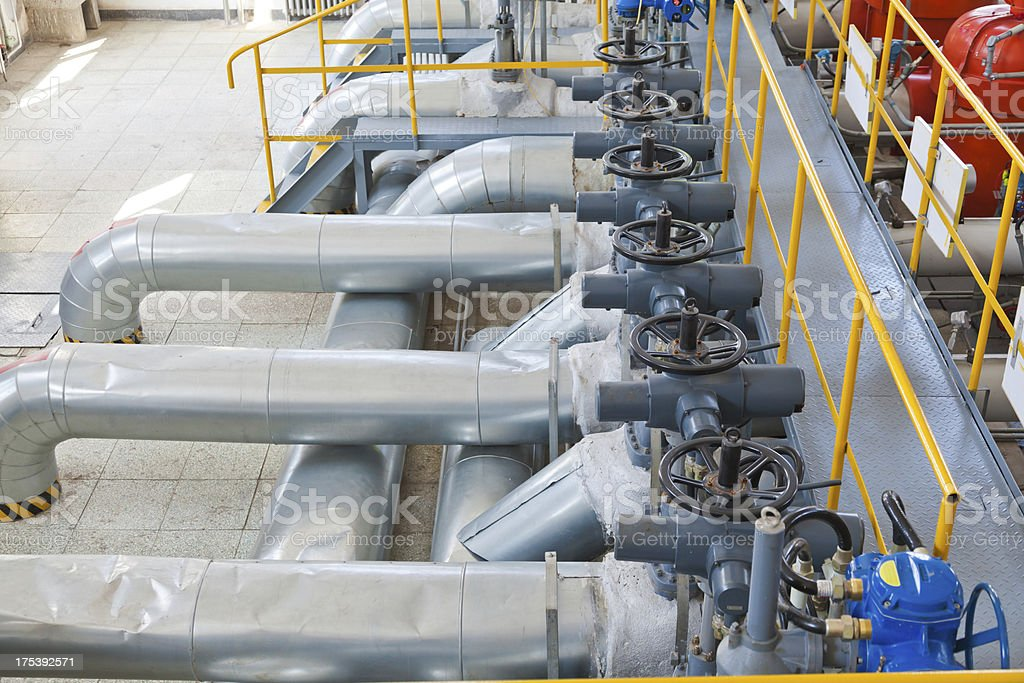 the oil pipeline equipment royalty-free stock photo