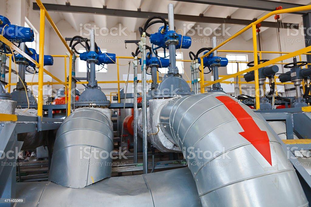 the oil pipeline equipment stock photo