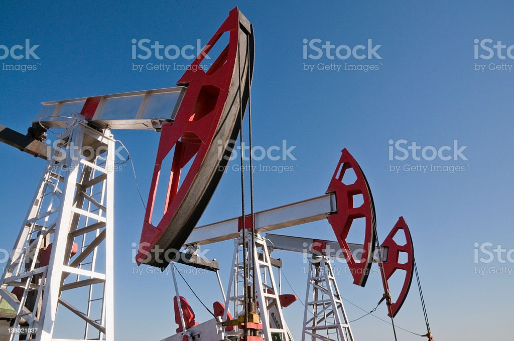 The oil pump. royalty-free stock photo