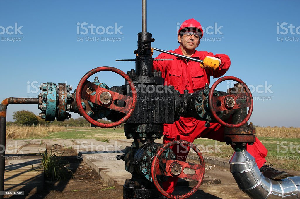 The Oilfield Worker stock photo