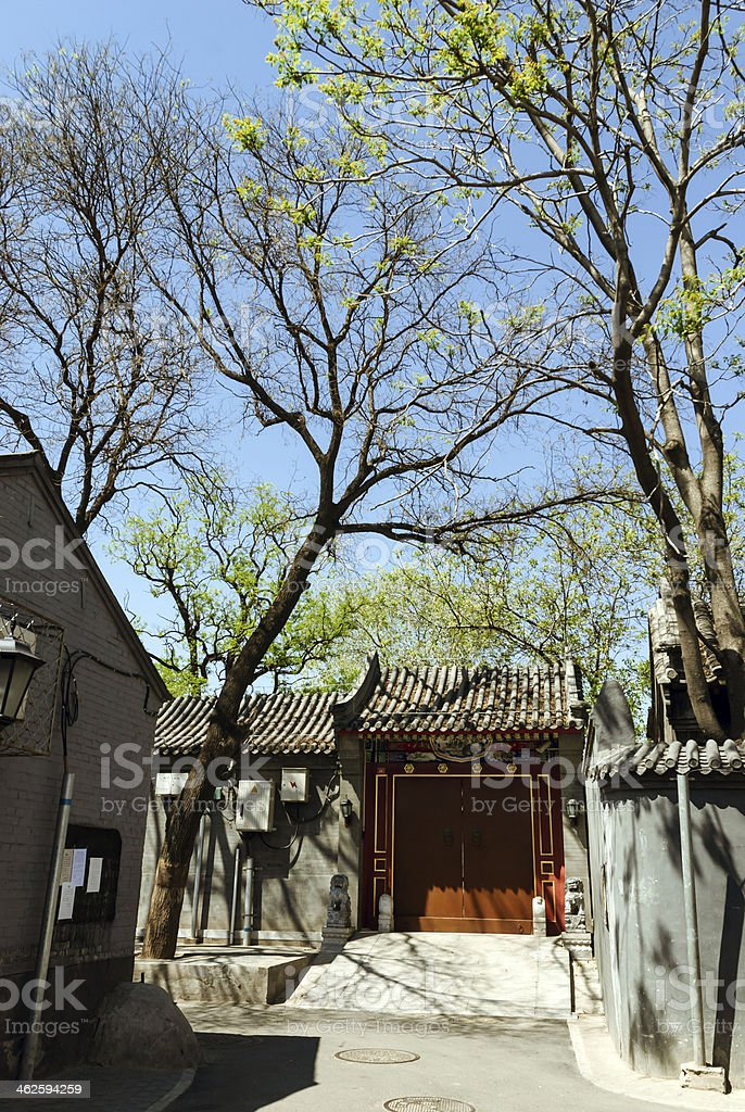 The old alleyway of Beijing royalty-free stock photo