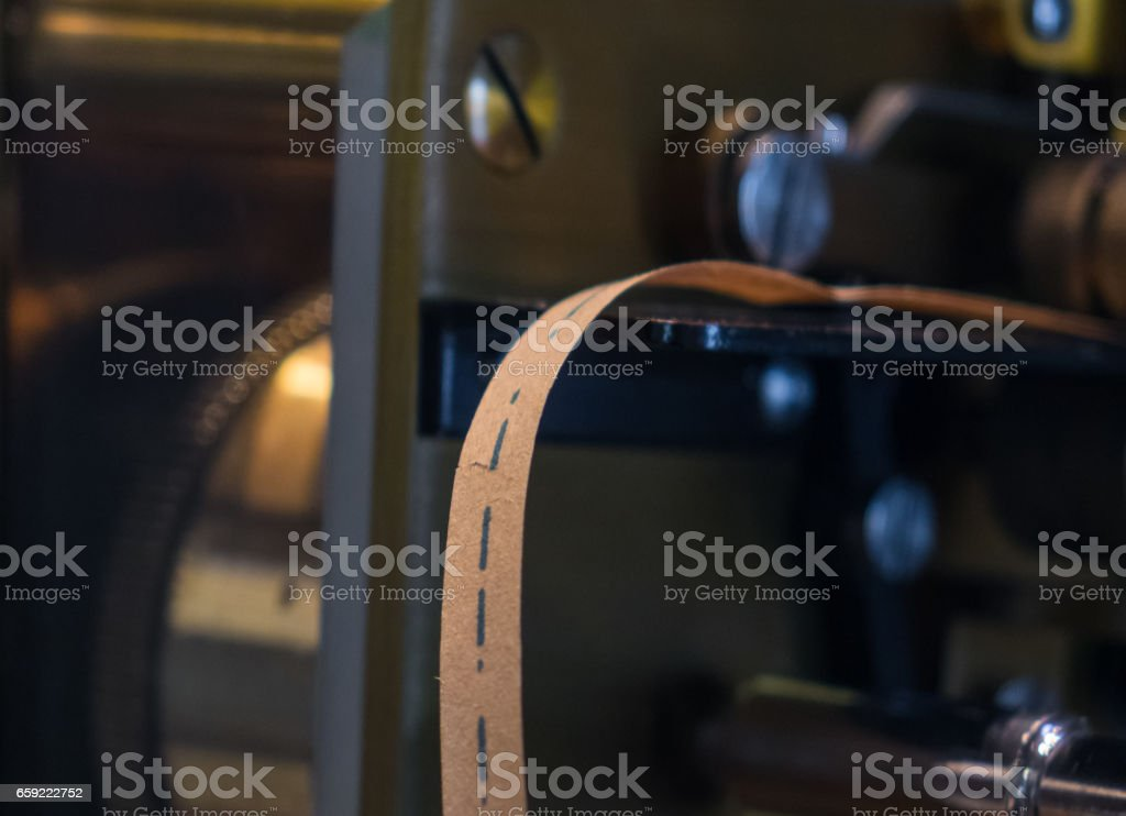 The old and vintage electrical telegraph, Morse system stock photo