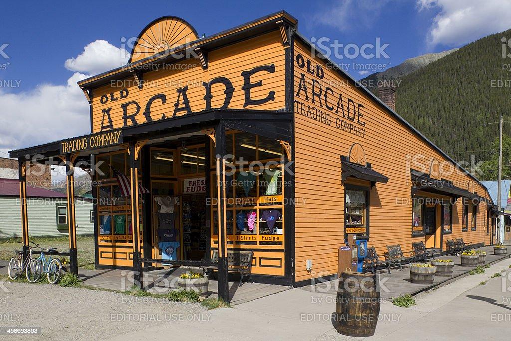 The Old Arcade - Silverton, Colorado stock photo