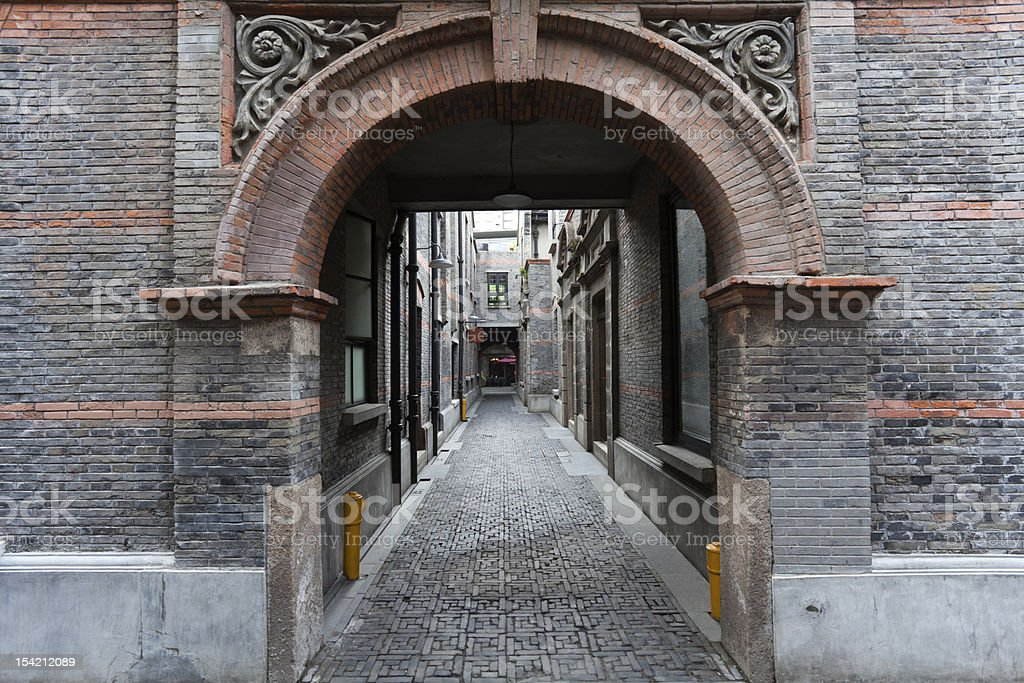 The old architecture of Shanghai royalty-free stock photo
