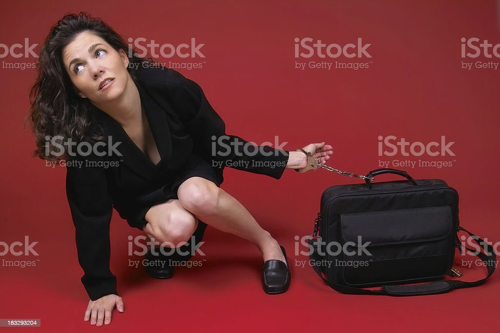 The Old Bag and Chain royalty-free stock photo