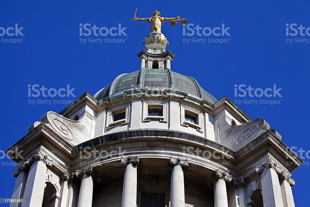 The Old Bailey in London royalty-free stock photo