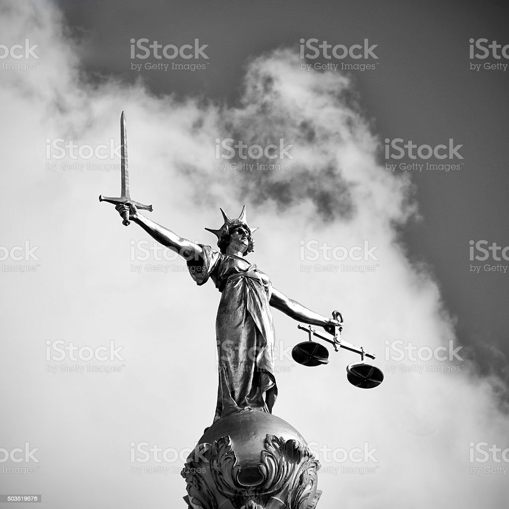 The Old Bailey's Lady Justice Statue stock photo