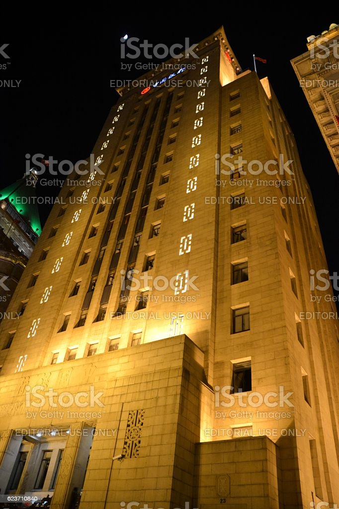 The Old Bank of China Building on the Bund, Shanghai stock photo