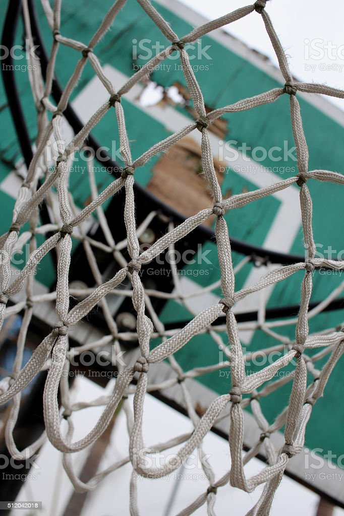The old basketball court stock photo