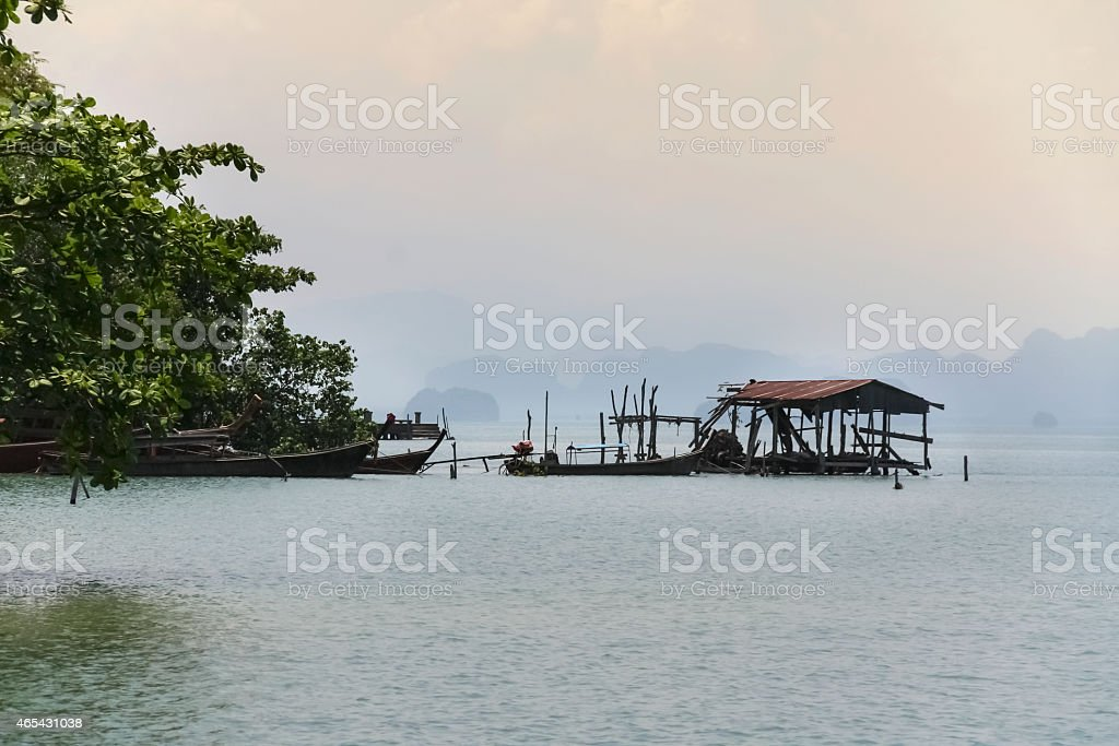 The old beach house view royalty-free stock photo