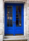 The old blue wooden door
