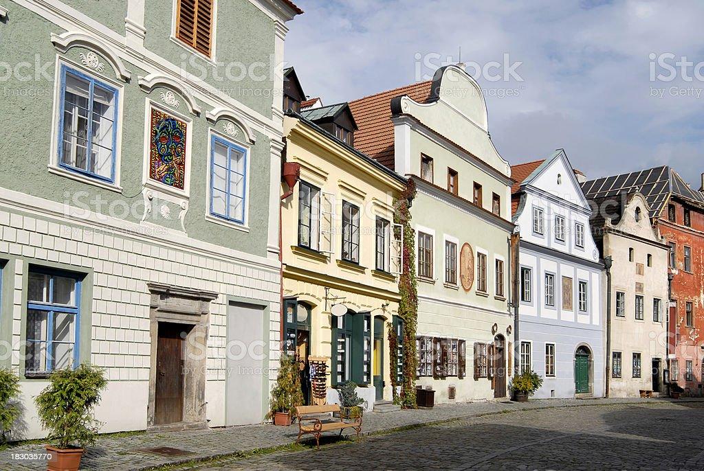 the old Bohemian town Cesky Krumlov stock photo
