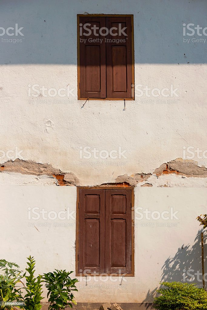 The old brick wall royalty-free stock photo