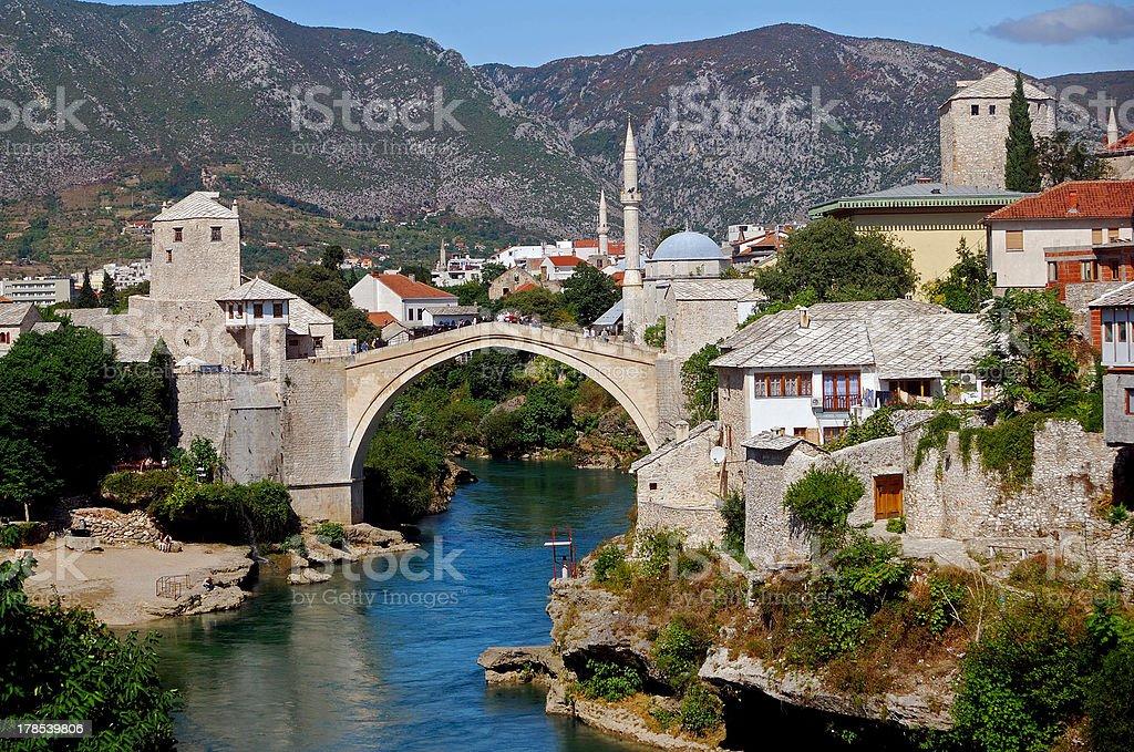 The Old Bridge, Mostar, Bosnia-Herzegovina stock photo