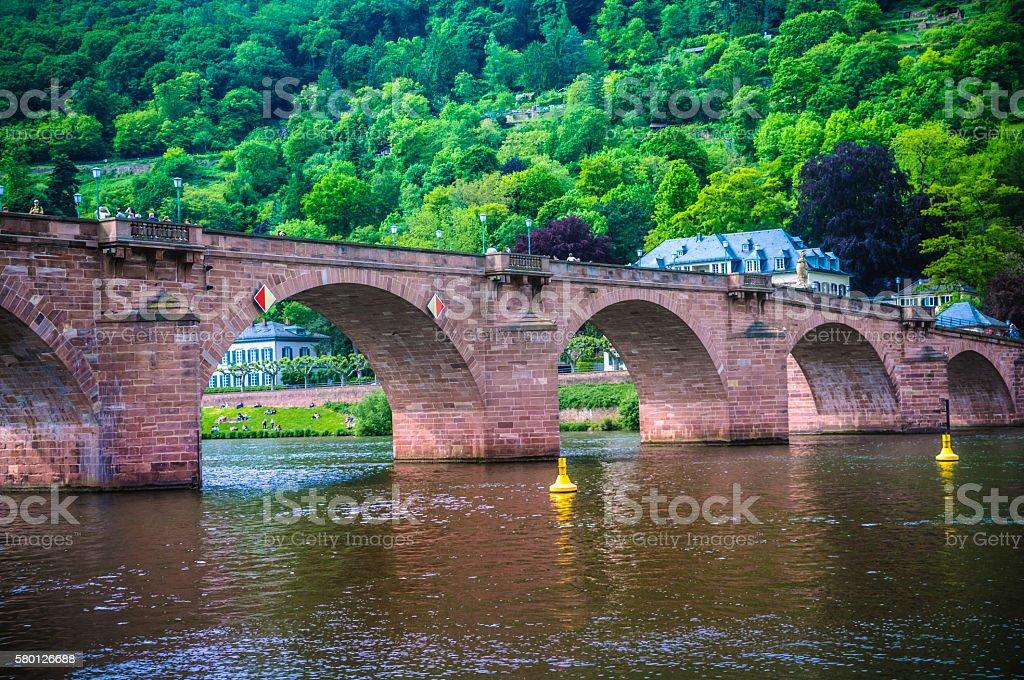 The Old Bridge-Heidelberg, Germany stock photo