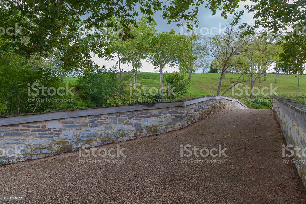 The Old Burnside Bridge at Antietam National Battlefield royalty-free stock photo