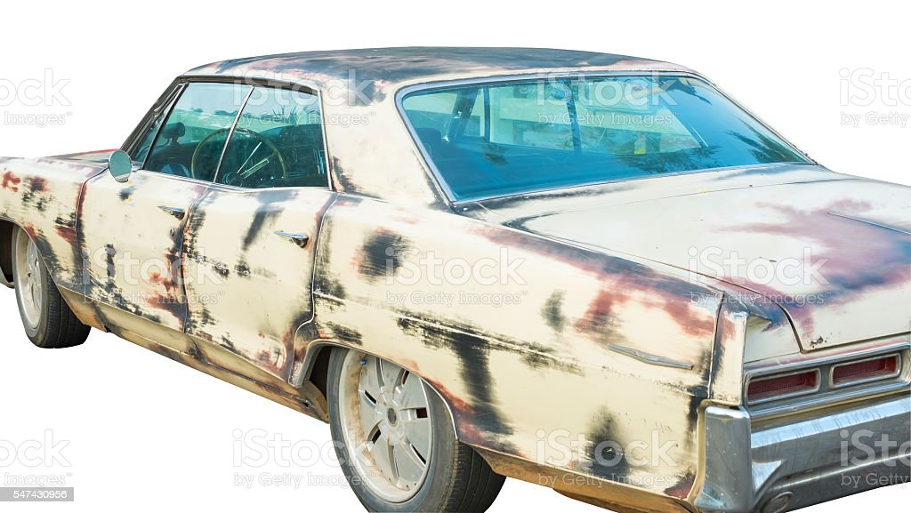 The old car, rust car Lizenzfreies stock-foto