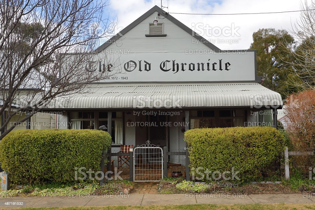 The Old Chronicle Carcoar stock photo