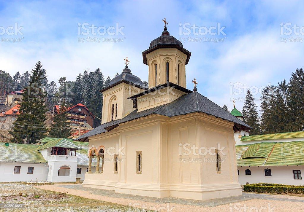 The Old Church at the Sinaia Monastery, Romania stock photo