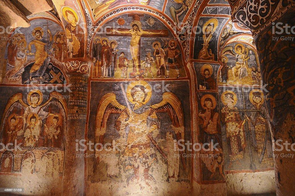 the old church. Cappadocia, Turke royalty-free stock photo