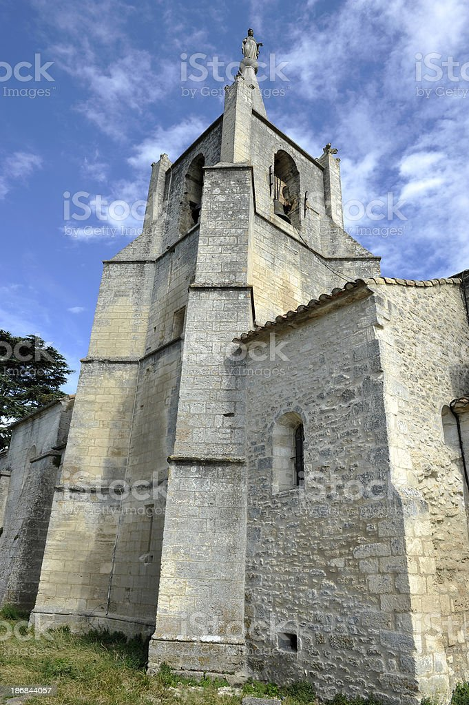 The old church of Bonnieux - Luberon/France stock photo