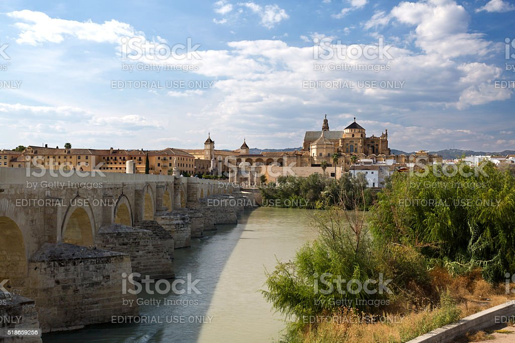 The old city and the Mosque–Cathedral of Córdoba stock photo