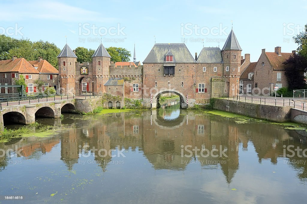 The old city gate of Amersfoort stock photo