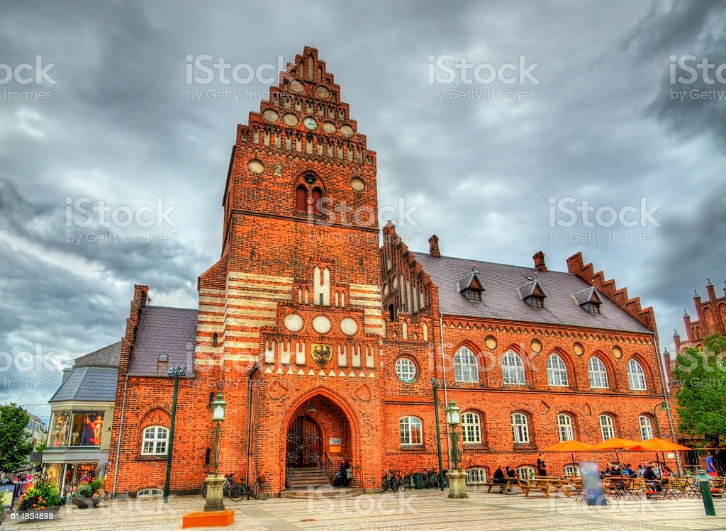 The Old City Hall of Roskilde - Denmark stock photo