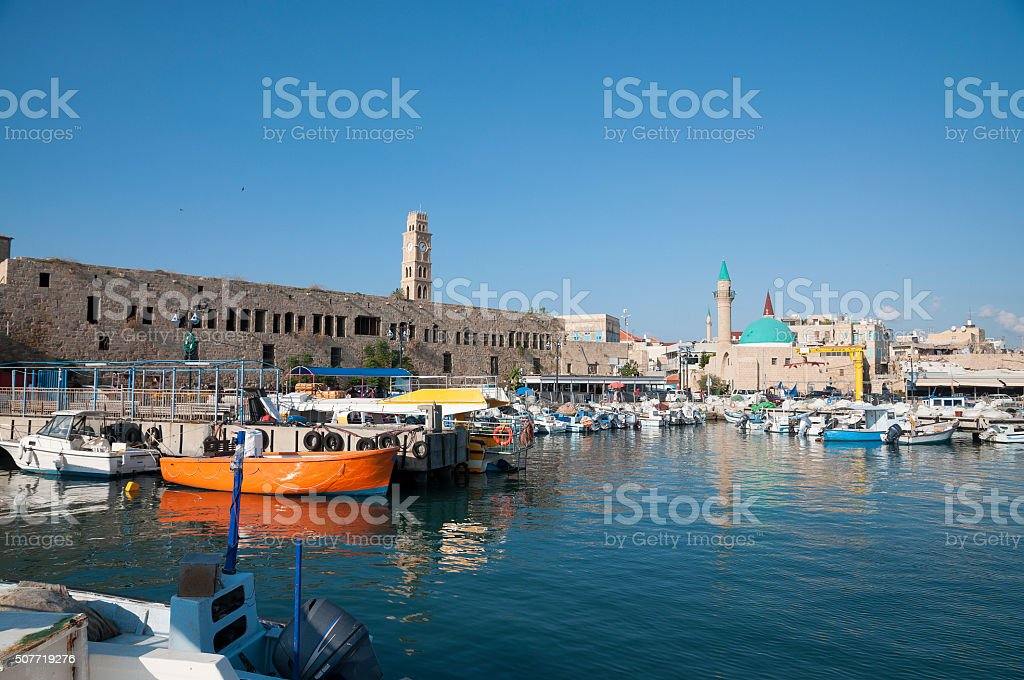 The old city of Acco, (Akko, Acre) stock photo