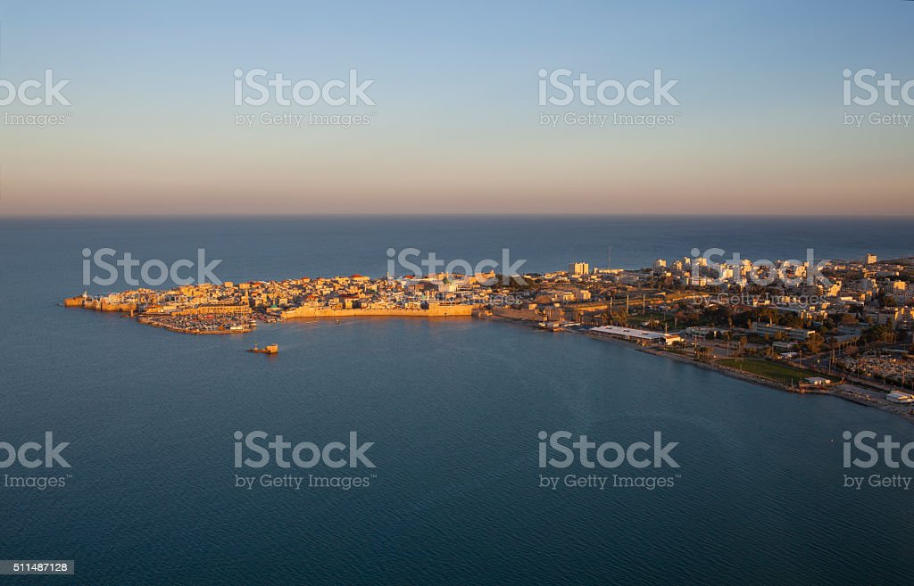 The old city of Akko Israel. stock photo