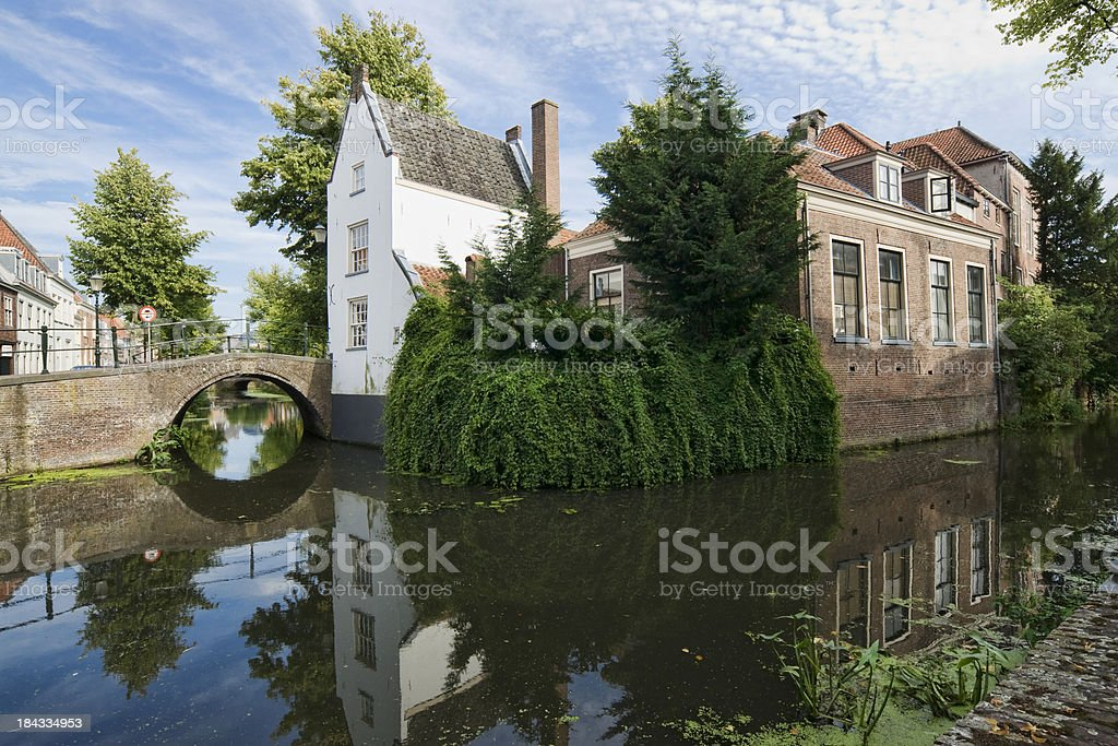 The old city of Amersfoort stock photo