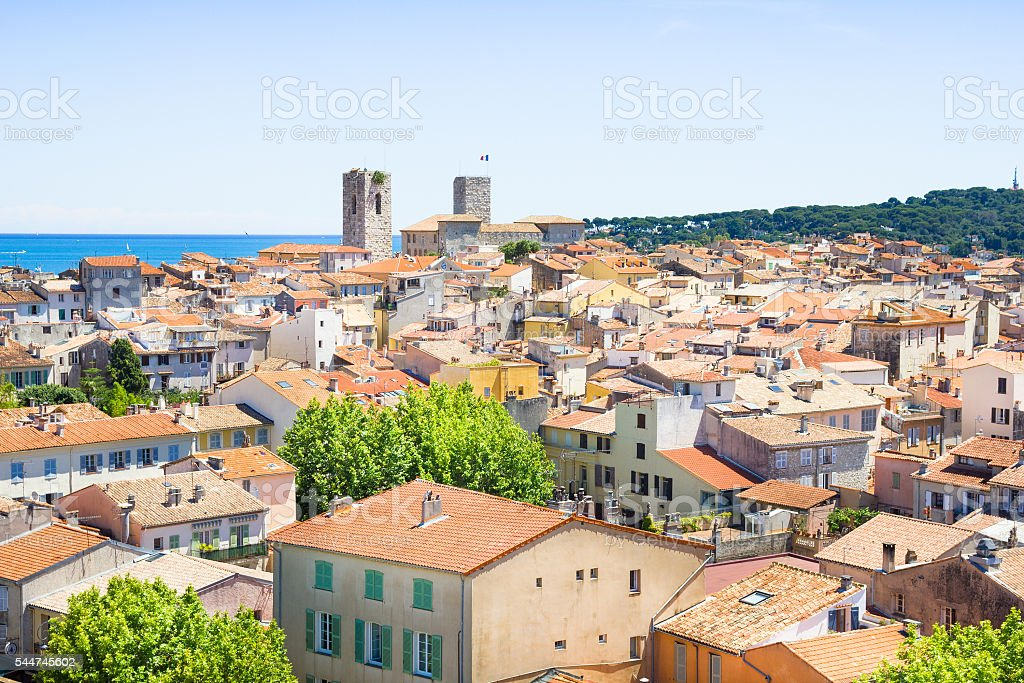 The old city of Antibes, French Riviera stock photo