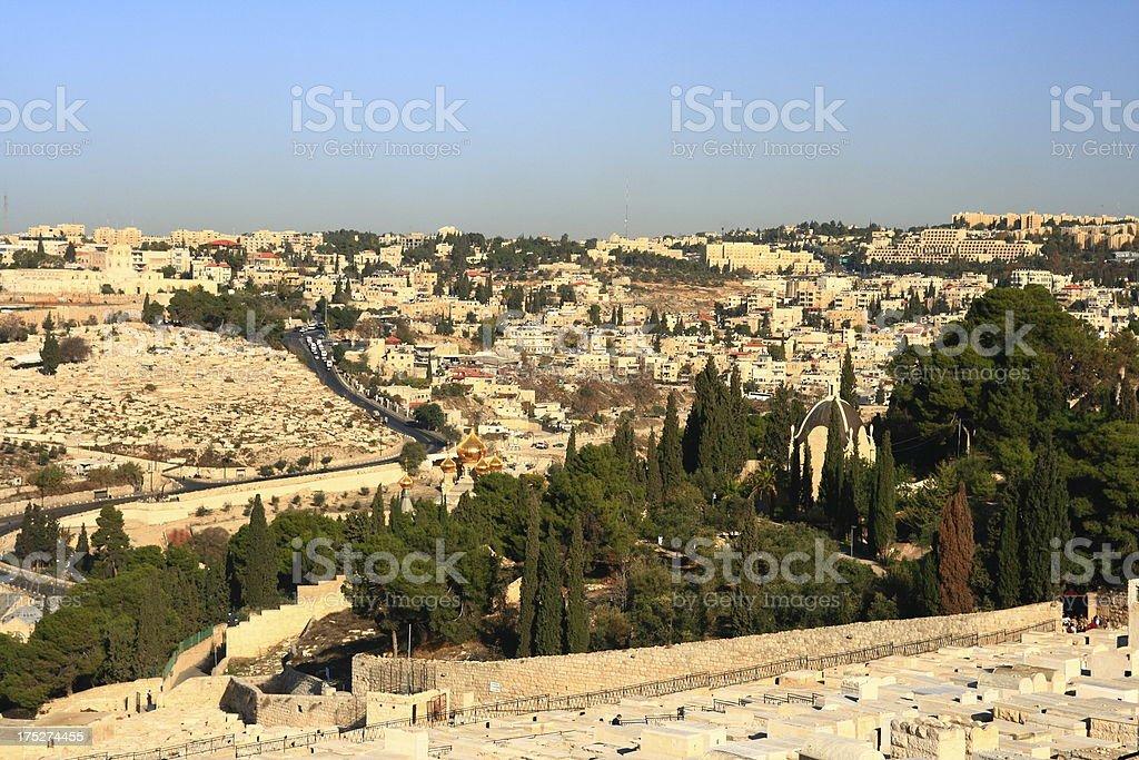 The old city of Jerusalem royalty-free stock photo