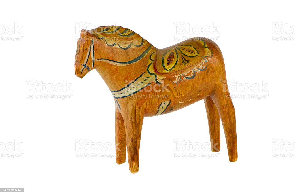 The old Dala Horse stock photo