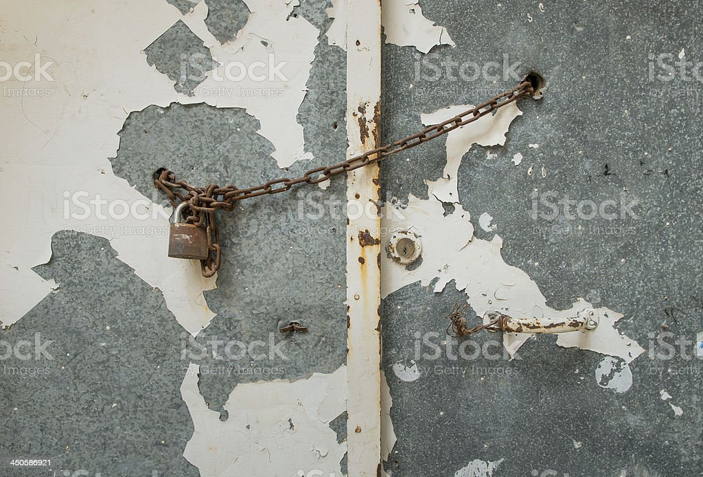 The old door royalty-free stock photo