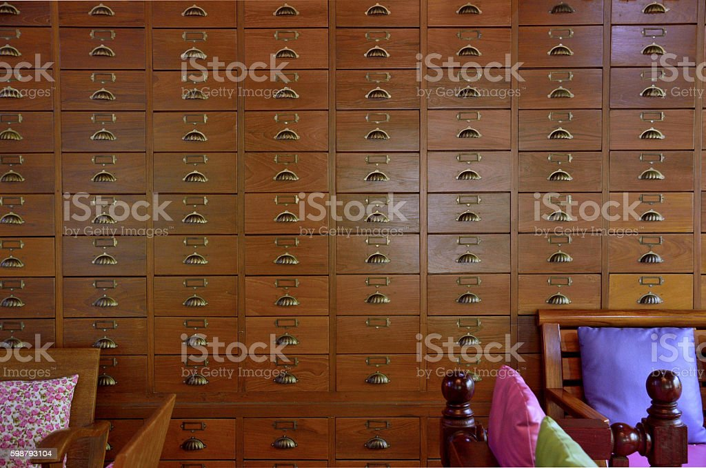 The old drawer interior stock photo