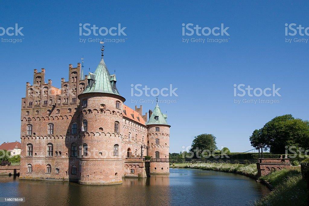 The old Egeskov Castle on Funen stock photo