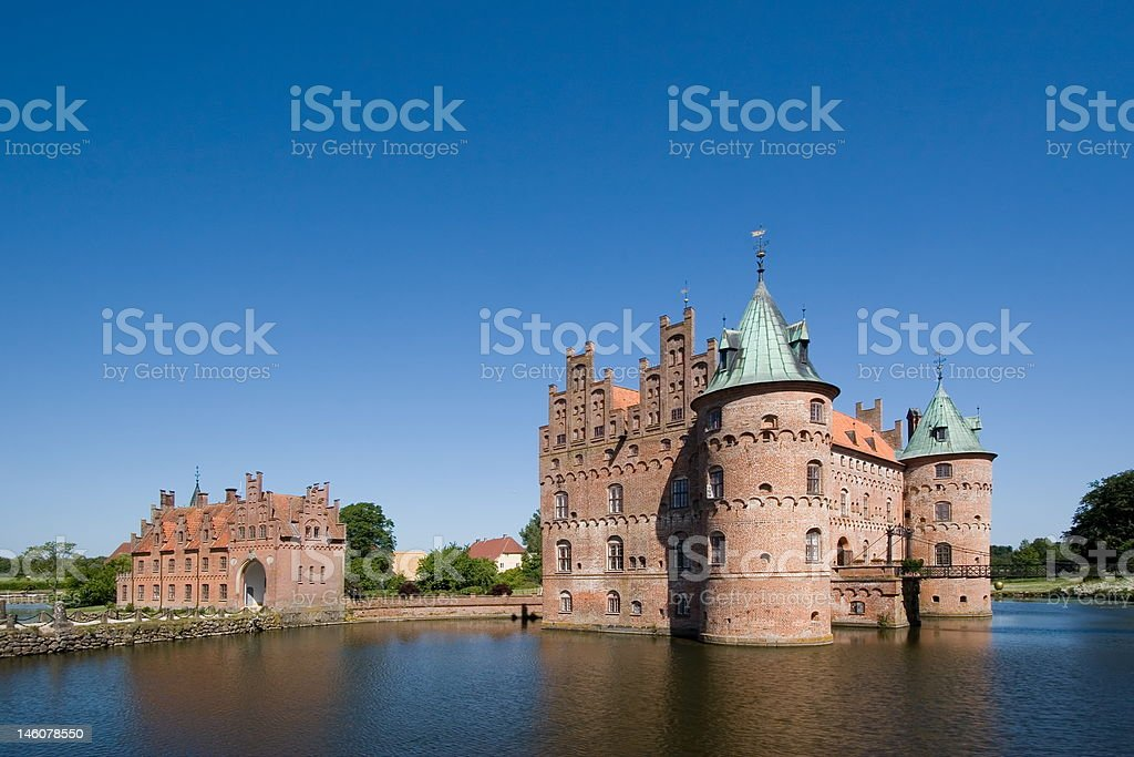 The old Egeskov Castle on Funen stock photo