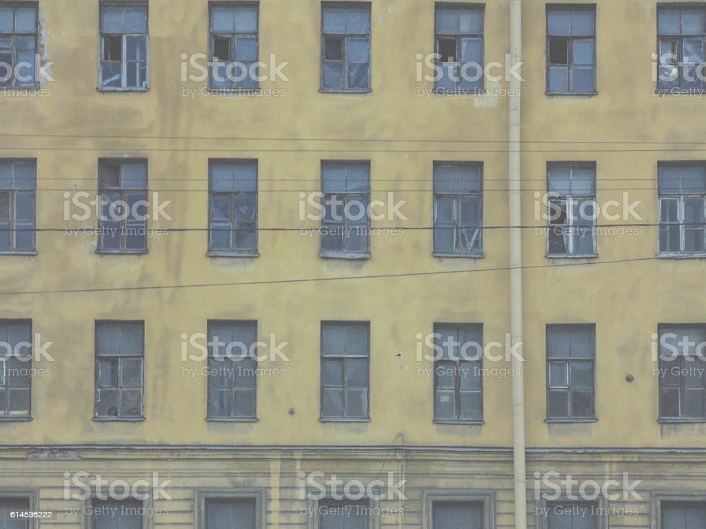The old factory building. stock photo
