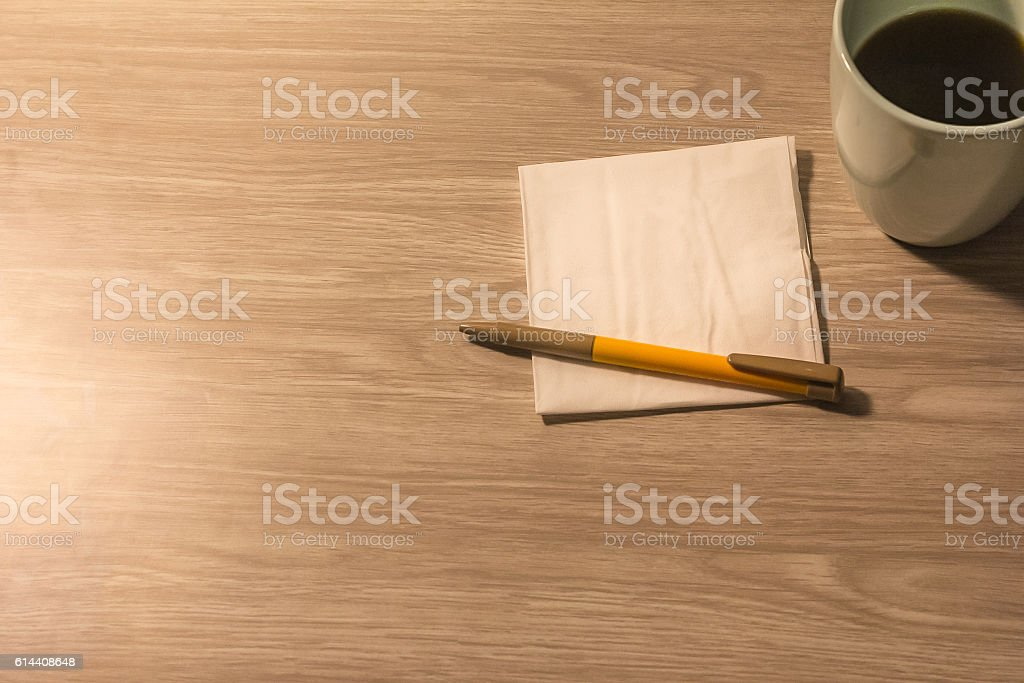 The old fashion way of writing note stock photo