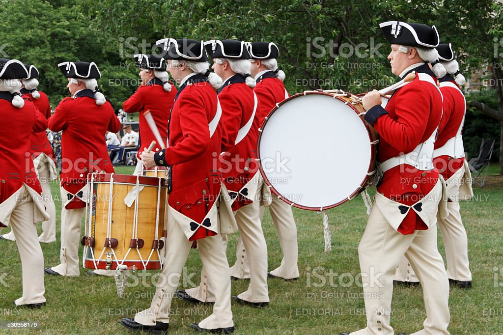 The Old Guard Fife and Drum Corps Marching stock photo