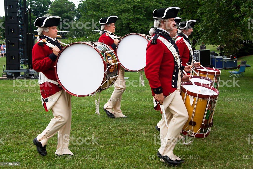 The Old Guard Fife and Drum Corps royalty-free stock photo