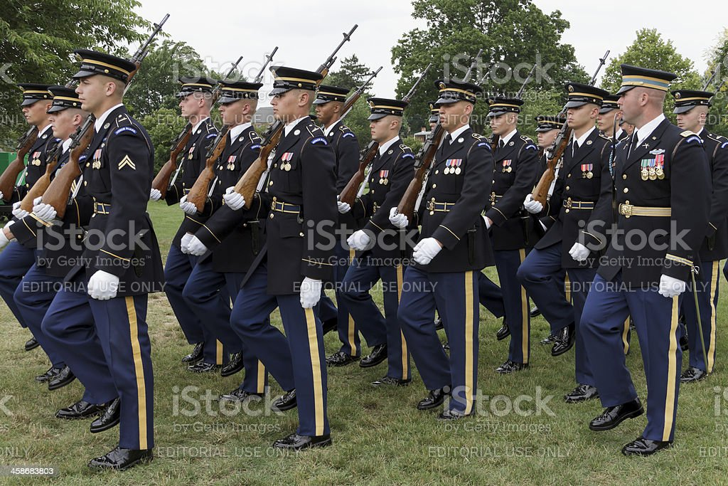The Old Guard--3rd United States Army Infanty Regiment royalty-free stock photo