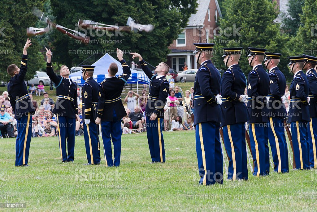 The Old Guard--3rd United States Army Infanty Regiment, Precision Rifles stock photo