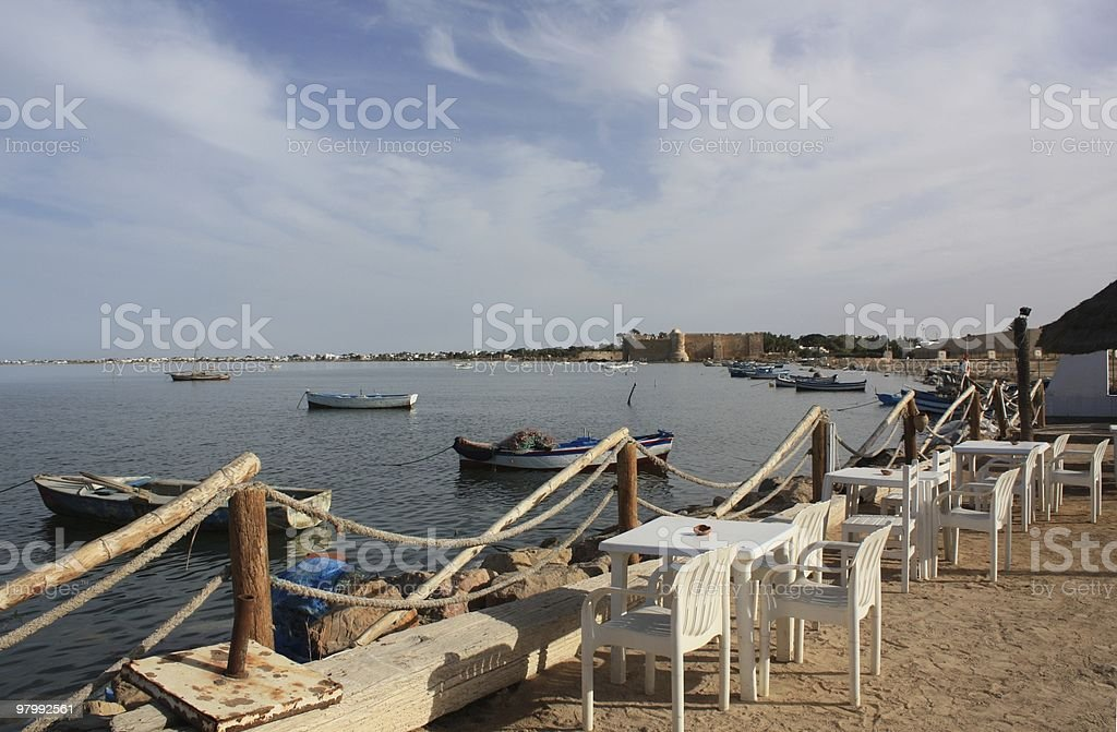 The old harbor of Houmt Souk/Djerba stock photo
