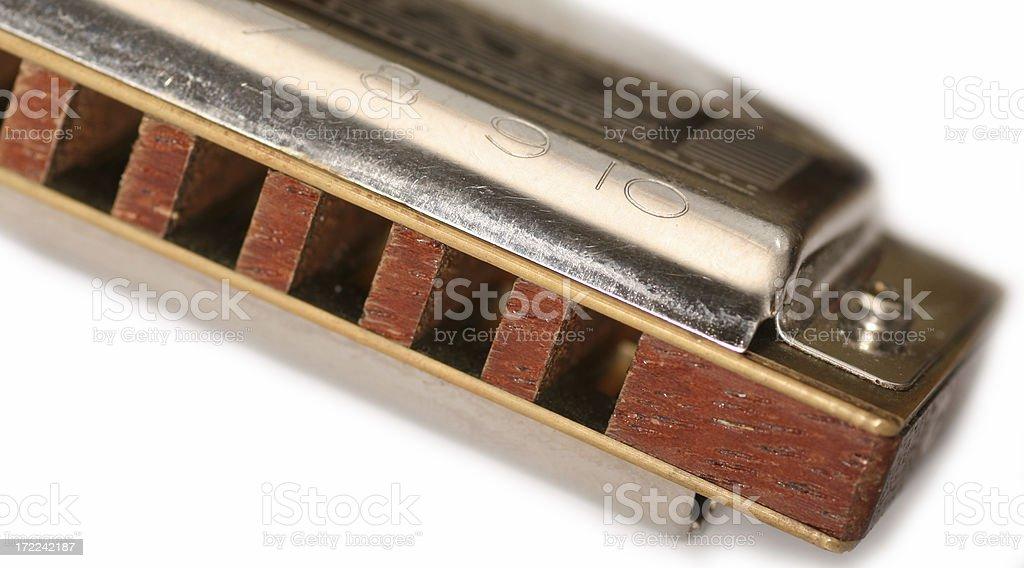 The old harmonica. stock photo