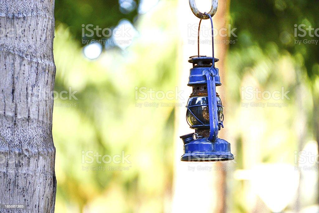 The old kerosene lantern royalty-free stock photo