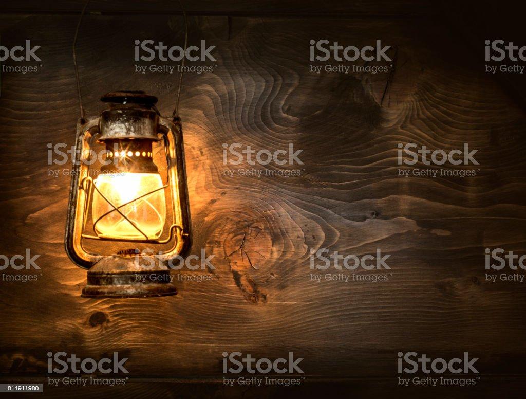 The old kerosene lantern stock photo