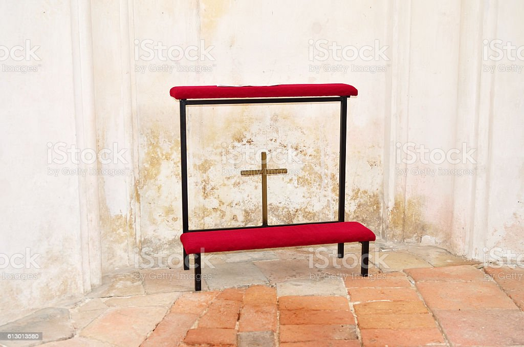 The old kneeler stock photo
